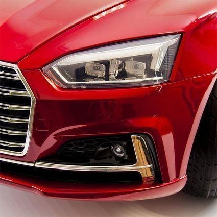 Детский электромобиль Audi S5 Cabriolet LUXURY (колеса резина, сиденье кожа, пульт, музыка)
