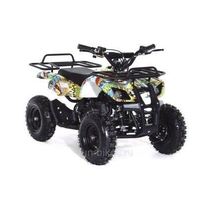 Квадроцикл детский бензиновый MOTAX ATV Х-16 Мини-Гризли с электростартером и пультом Бомбер (пульт, задний привод, до 45 км/ч)