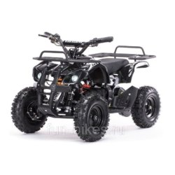 Детский квадроцикл на аккумуляторе MOTAX Mini Grizlik Х-16 мощностью 1000W черный (пульт контроля, до 35 км/ч)