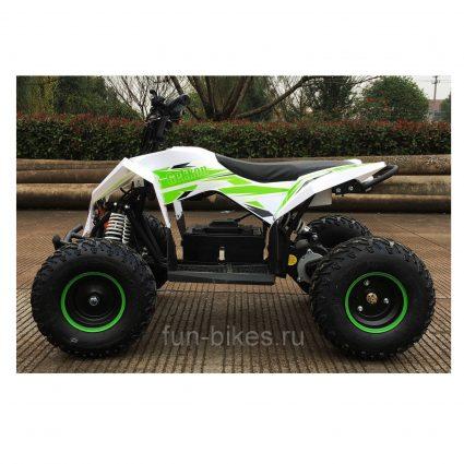 Детский квадроцикл на аккумуляторе Motax GEKKON 1300W бело-зеленый (пульт контроля, до 38 км/ч)