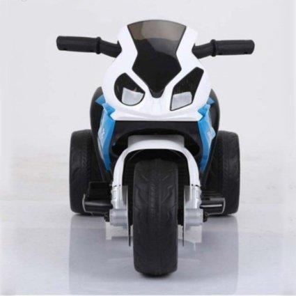 Электромотоцикл BMW S1000RR Blue (трицикл, 6V) - JT5188 (музыка, свет фар, сиденье кожа)
