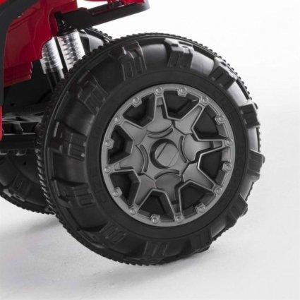 Электроквадроцикл Grizzly 2WD BDM0906 красный (колеса резина, сиденье кожа, пульт, музыка)