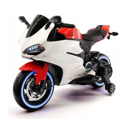 Детский электромотоцикл Ducati 12V - FT-1628 бело- красный (колеса  светящиеся 9c4e1eb7ee3bb