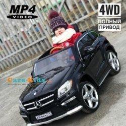 Электромобиль Mercedes-Benz GL63 AMG LUXURY 4WD черный (колеса резина, сиденье кожа, пульт, музыка)