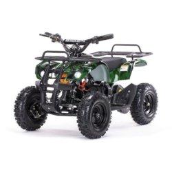 Детский квадроцикл на аккумуляторе MOTAX Mini Grizlik Х-16 мощностью 1000W зеленый-камуфляж (пульт контроля, до 35 км/ч)