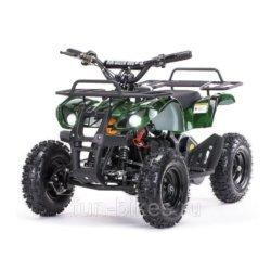 Детский квадроцикл на аккумуляторе MOTAX Mini Grizlik Х-16 мощностью 800W зеленый - камуфляж (пульт контроля, до 30 км/ч)