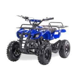 Квадроцикл детский бензиновый MOTAX ATV Х-16 Мини-Гризли с электростартером и пультом синий  (пульт, задний привод, до 45 км/ч)