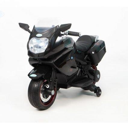 Электромотоцикл BMW K1200GT Red 12V - XMX-316 черный (колеса резина, кресло кожа, музыка, ручка газа)