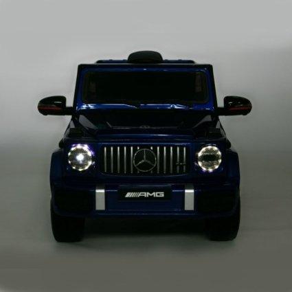 Электромобиль Mercedes Benz G63 BBH-0002 синий (колеса резина, кресло кожа, пульт, музыка)