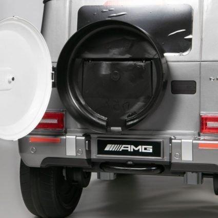 Электромобиль Mercedes Benz G63 AMG BBH-0003 серый (колеса резина, кресло кожа, пульт, музыка)