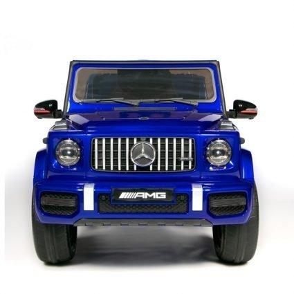 Электромобиль Mercedes Benz G63 AMG BBH-0003 синий (колеса резина, кресло кожа, пульт, музыка)