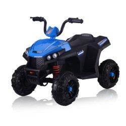 Электроквадроцикл T111TT синий (колеса резина, сиденье кожа, музыка)