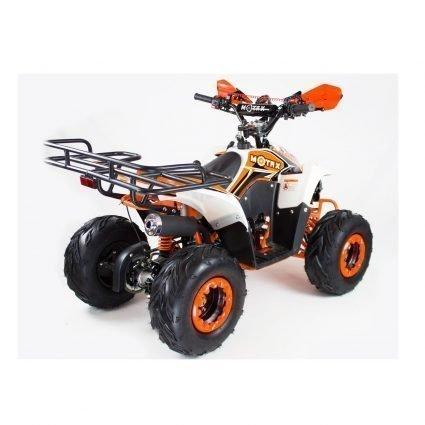 Подростковый квадроцикл бензиновый MOTAX ATV MIKRO 110 cc бело- оранжевый (пульт контроля, электростартер, до 45 км/ч)