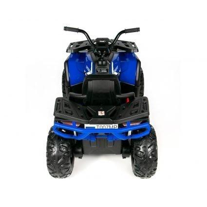 Электроквадроцикл XMX607 Т007МР 4WD синий (полный привод, колеса резина, кресло кожа, музыка)