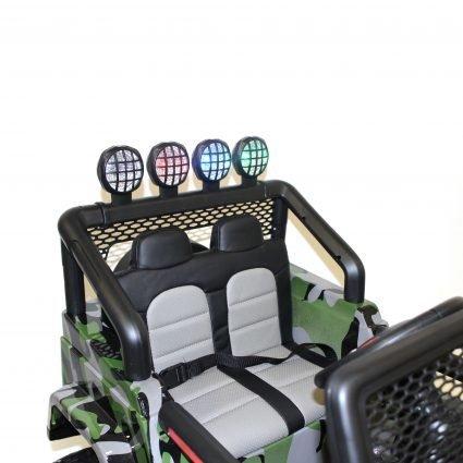 Электромобиль Jeep T008TT 4WD камуфляж (2х местный, полный привод, колеса резина, кресло кожа, пульт музыка)