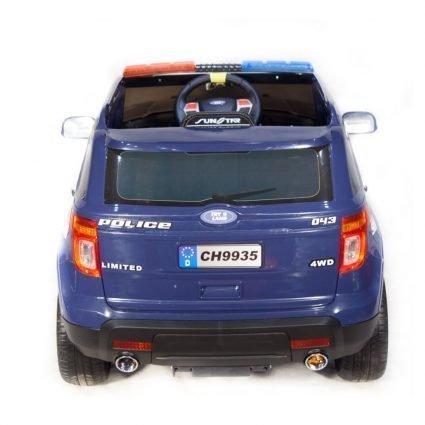 Электромобиль Ford Police синий (полицейский, колеса резина, сиденье кожа, пульт, музыка, рация)