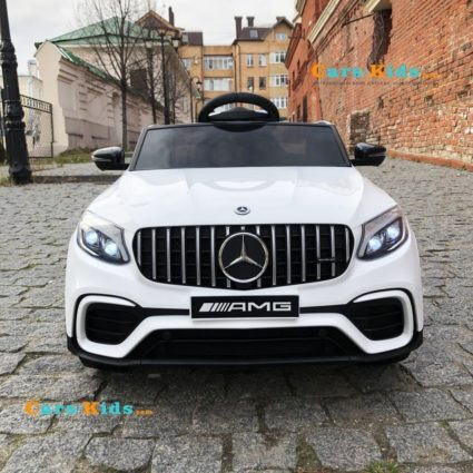 Электромобиль Mercedes Benz GLC63 AMG 4WD QLS-5688 белый (полный привод, колеса резина, кресло кожа, пульт, музыка)