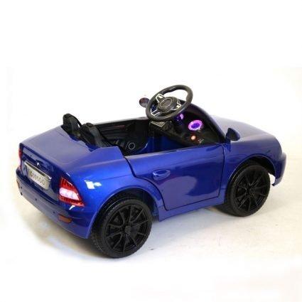 Электромобиль Лада Priora O095OO синий (колеса резина, кресло кожа, пульт, музыка)
