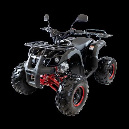 Подростковый квадроцикл бензиновый MOTAX ATV Grizlik 7 125 cc черно-красный (электростартер, длинноходная подвеска, до 65 км/ч)