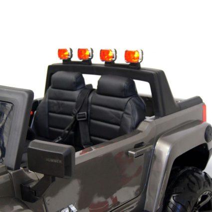 Электромобиль HUMMER A777MP серый (колеса резина, кресло кожа, пульт, музыка)