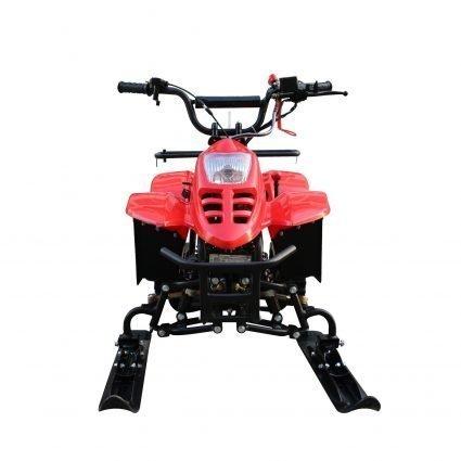 Детский снегоход Micro snow (Снегоцикл) красный (до 40 км/ч, дисковые тормоза, до 60 кг)