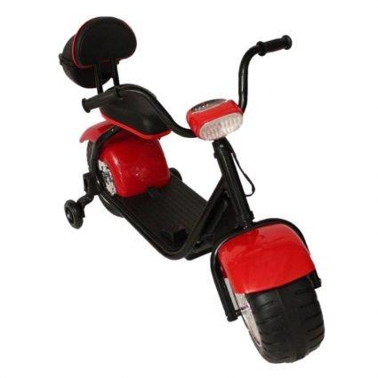 Детский электромотоцикл CityCoco - QK-306 красный (свет фар, музыка)
