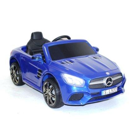 Электромобиль Mercedes-Benz SL500 AMG синий (колеса резина, кресло кожа, пульт, музыка)
