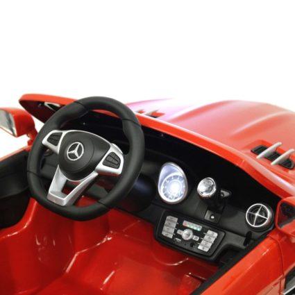 Электромобиль Mercedes-Benz SL500 AMG красный (колеса резина, кресло кожа, пульт, музыка)