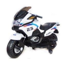 Электромотоцикл Moto XMX609 белый  (колеса резина, сиденье кожа, музыка, страховочные колеса)