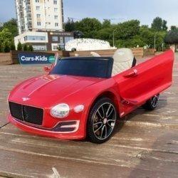 Электромобиль Bentley EXP12 JE1166 красный (колеса резина, кресло кожа, пульт, музыка)