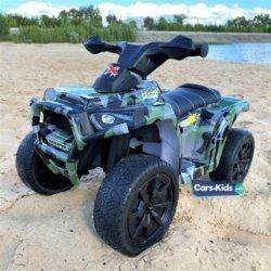 Электроквадроцикл XH116 камуфляж (колеса резина, кресло кожа, музыка)