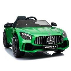 Детский электромобиль Mercedes-Benz GTR AMG BBH-0005 зеленый (колеса резина, кресло кожа, пульт, музыка)