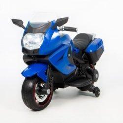 Электромотоцикл BMW K1200GT 12V - XMX-316 синий (колеса резина, кресло кожа, музыка, ручка газа)