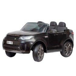 Электромобиль Land Rover Discovery черный (колеса резина, кресло кожа, пульт, музыка)